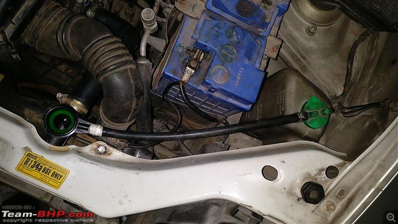 DIY: Radiator Replacement in a Maruti WagonR-19.-radiator-reservoir-pipe-fixed.jpg