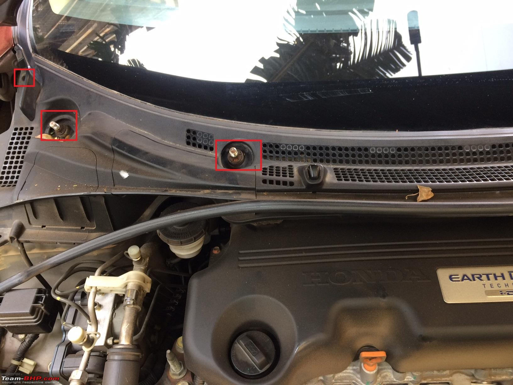 DIY: City cowl panel cleaning & the subterfuge of Honda