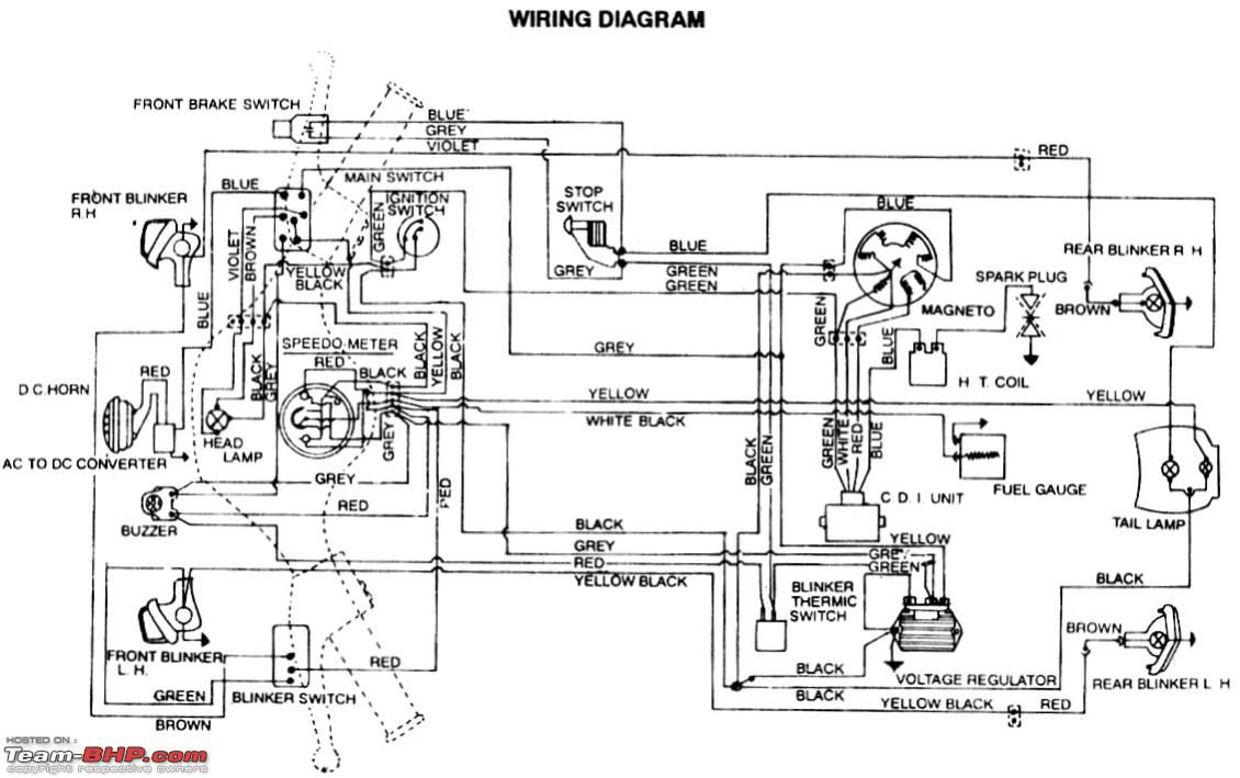 kawasaki bajaj ct 100 wiring diagram