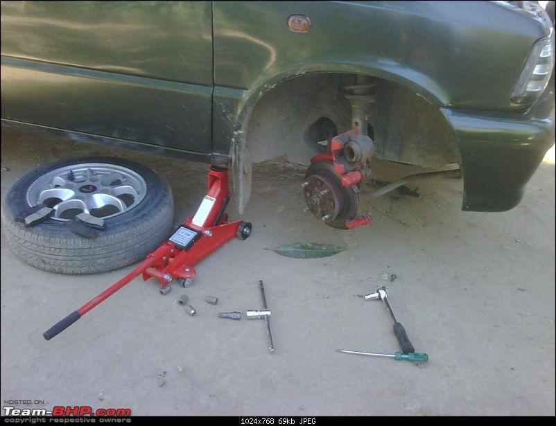 DIY! Sunday Usage! Front brake pad replacement.-1-jackup.jpg