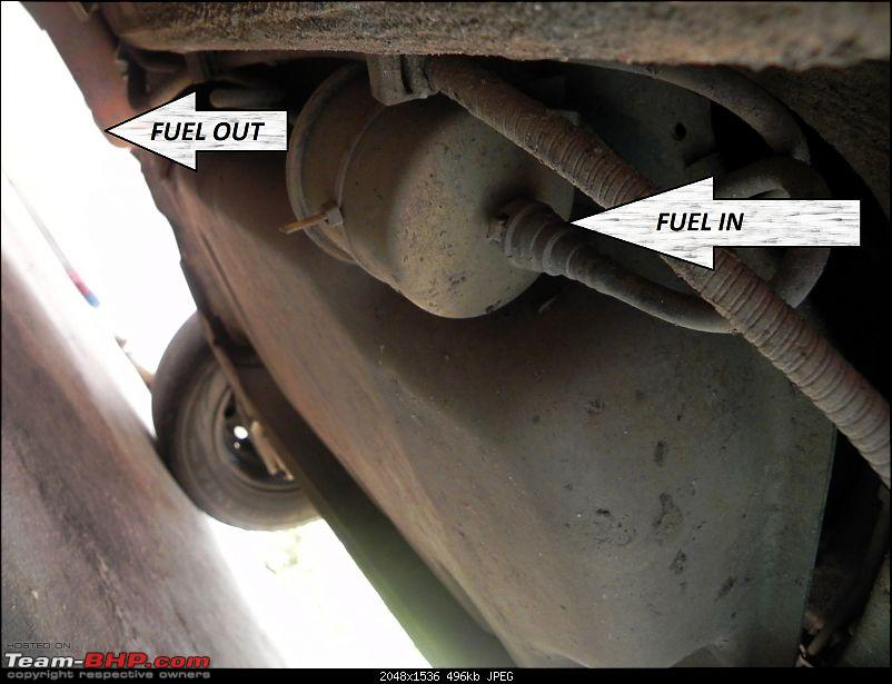 A List of DIY's for your car: A Pictorial Guide-fuel-filter-out.jpg