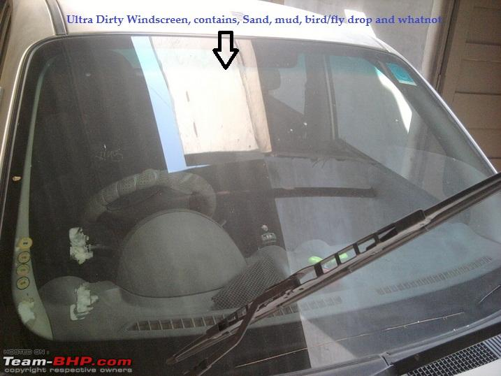 DIY Car Windshield Cleaning Low cost method to the