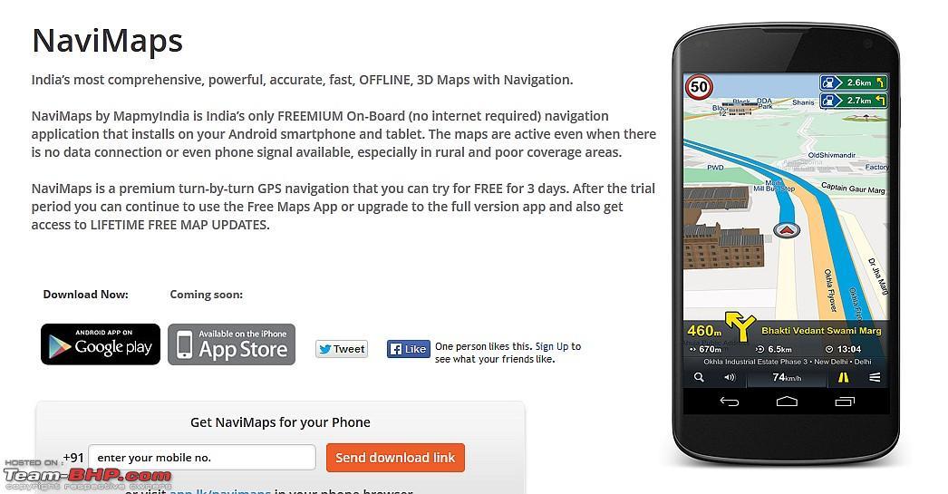 NaviMaps - MapmyIndia launches OFFLINE 3D Navigation App