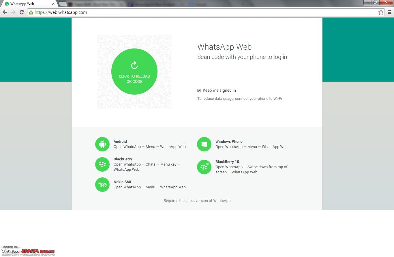 WhatsApp desktop version now available