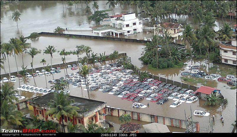 Alert : Flooding at Kochi Renault dealer's stockyard-duster.jpg