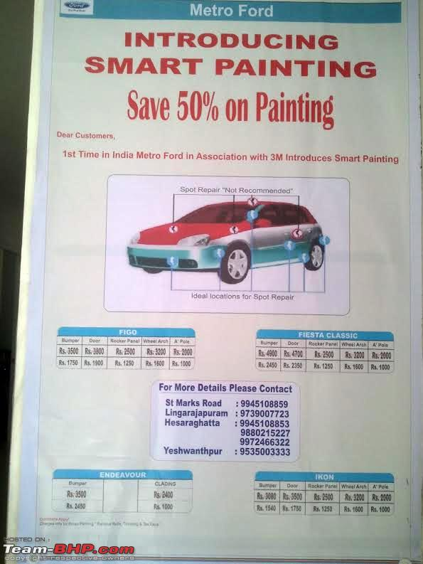 Cost To Repaint A Car >> Metro Ford Bangalore Ties Up With 3m Spot Painting At