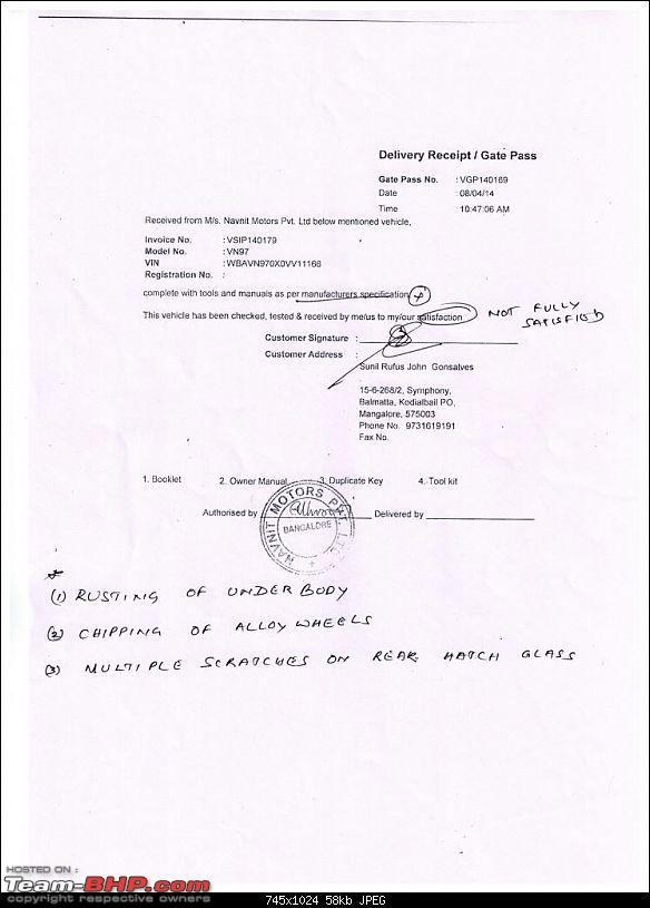 Awful BMW X1 buying experience from Navnit Motors, Mangalore. UPDATE: Issue Resolved-gate-pass.jpg
