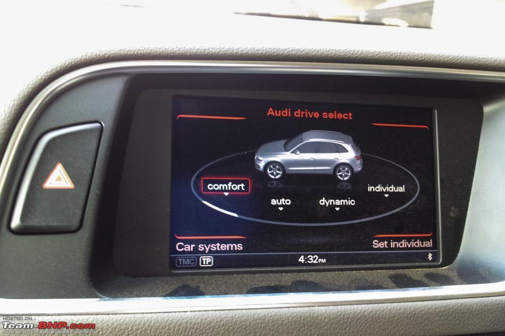 Audi Drive Select >> 2013 Audi Q5 Facelift Launch Report Short Drive Team Bhp