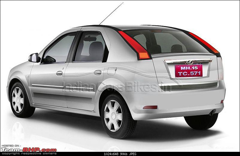 Spied: Mahindra Verito Compact Variant. EDIT : New PICS on Page 3-2014mahindraveritohatchbackrender.jpg