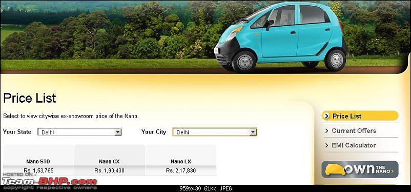 Tata Nano-November Sales=506. Analysing the root cause and devising the solutions.-nano-prices.jpg