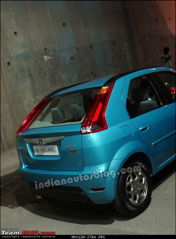Mahindra to offer a Verito based hatchback called the 'Vibe'-mahindraveritoviberear.jpg