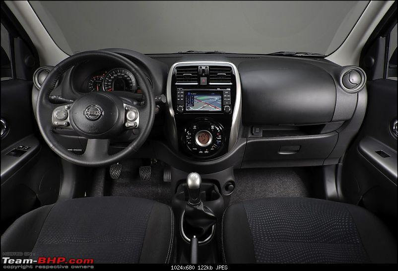 Nissan Micra facelift - Spotted in full skin. EDIT : Now in Pune!-2013nissanmicrafaceliftcabin1024x680.jpg