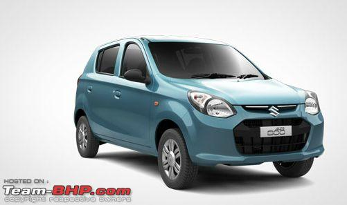 Maruti Alto Now Available In VXi Trim TeamBHP - Car body graphics for altomaruti altobrowzer features and price in india