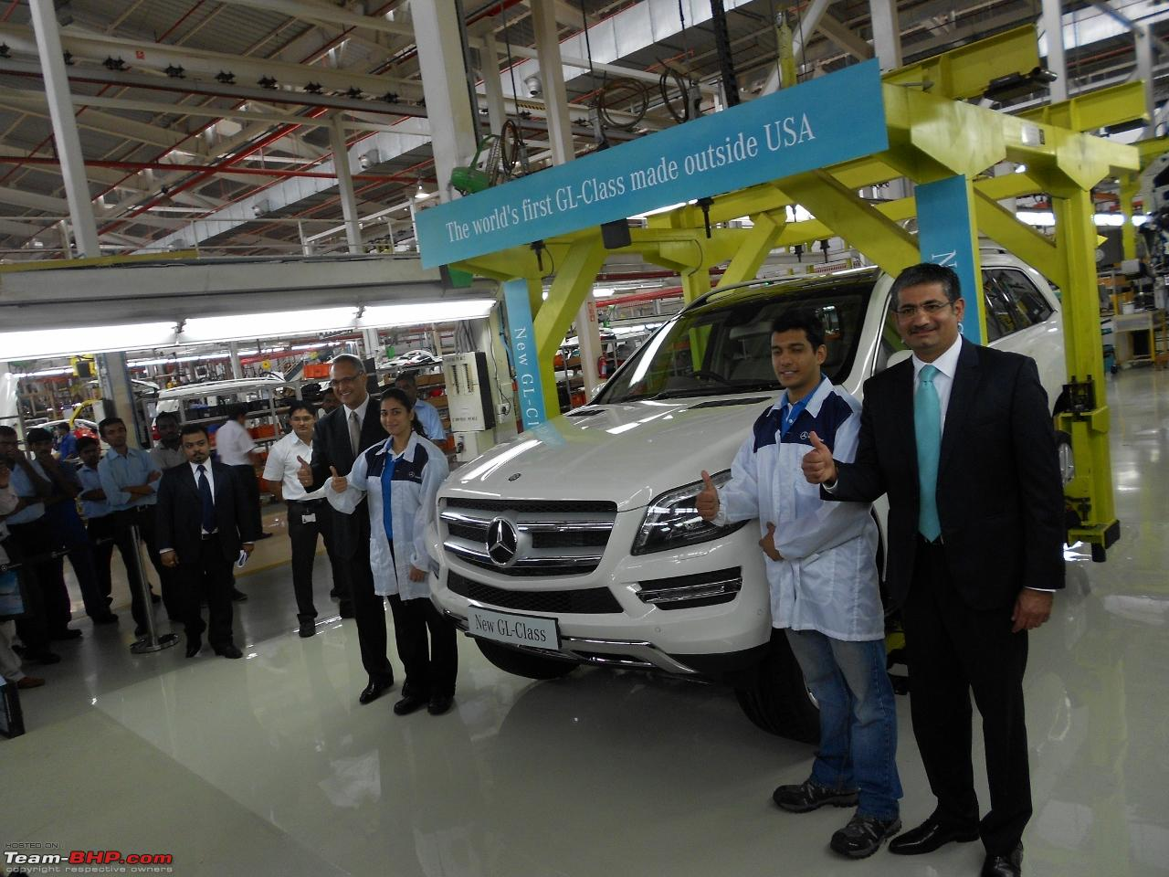 Mercedes benz india commences ckd assembly of gl class suv for Mercedes benz tuscaloosa al