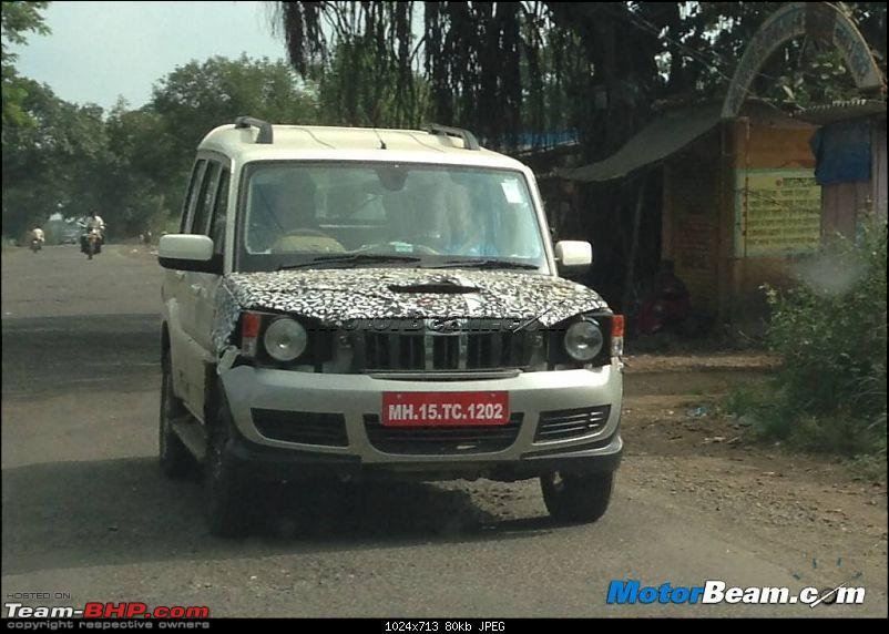 2014 Mahindra Scorpio Facelift (W105). EDIT: Now launched at Rs. 7.98 lakhs-2015mahindrascorpio.jpg