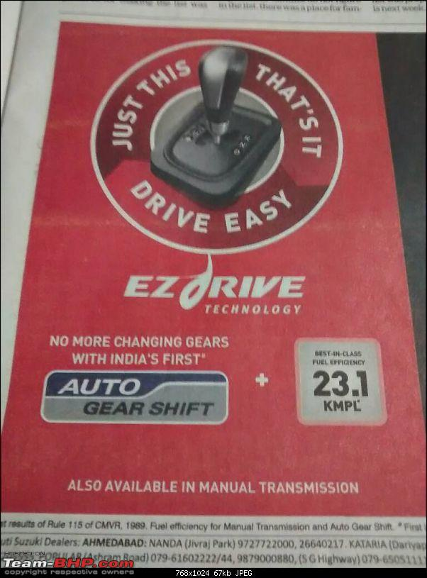 "Maruti to offer Automated Manual (""EZdrive"") in small cars*EDIT: Celerio AMT launched-1390620710323.jpg"
