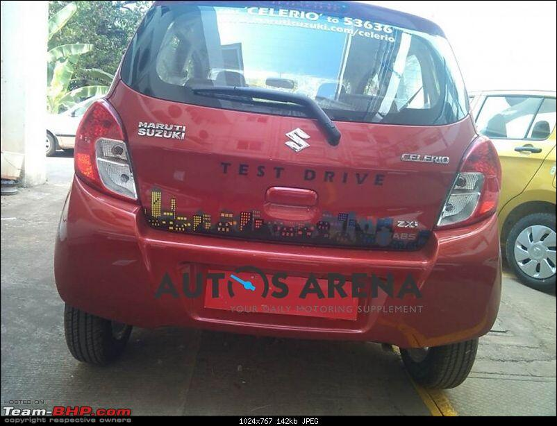 "Maruti to offer Automated Manual (""EZdrive"") in small cars*EDIT: Celerio AMT launched-maruticelerioredrearspyshot1024x767.jpg"