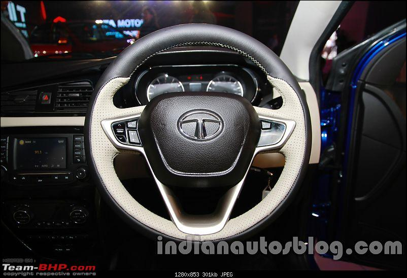 On the Tata Bolt Hatchback-tatazestlaunchimagessteering.jpg