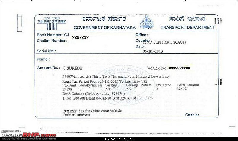 Karnataka Road Tax, Crack down announced.EDIT: High Court Judgement on Pg 36 attached-tax.jpg