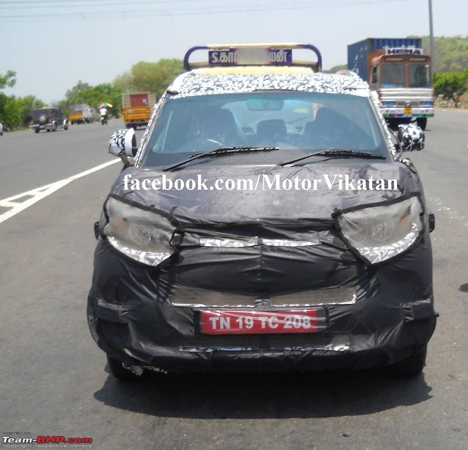 Suv Cars Page 7: Scoop Pic! Mahindra's S101 Mini-SUV Spotted