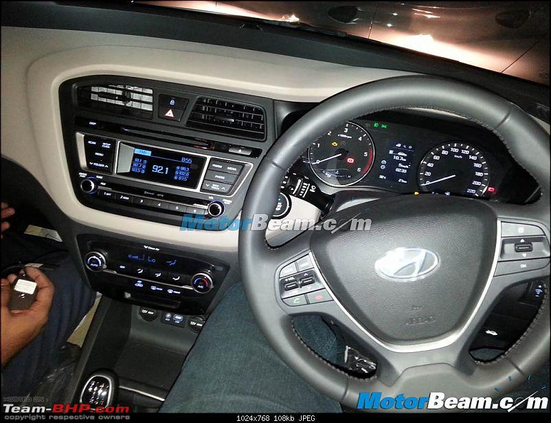 SCOOP Pics! 2014 Hyundai i20 spotted testing in India *UPDATE* Now launched @ 4.89L-2015hyundaielitei20spyshotdashboard.jpg