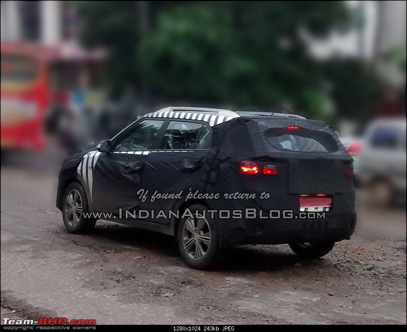 Hyundai ix25 Compact SUV caught testing in India. EDIT: Named the Creta-hyundaiix25spiedindiaiabrear.jpg