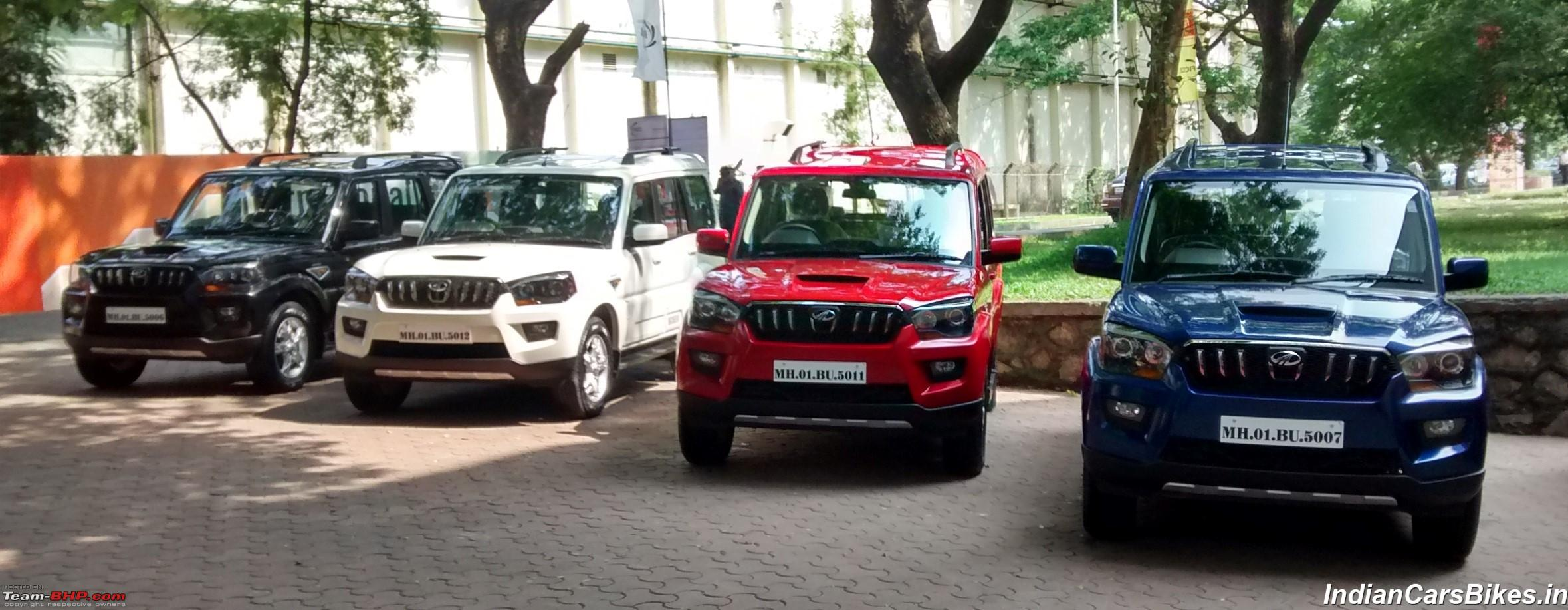 2014 Mahindra Scorpio Facelift (W105). EDIT: Now launched