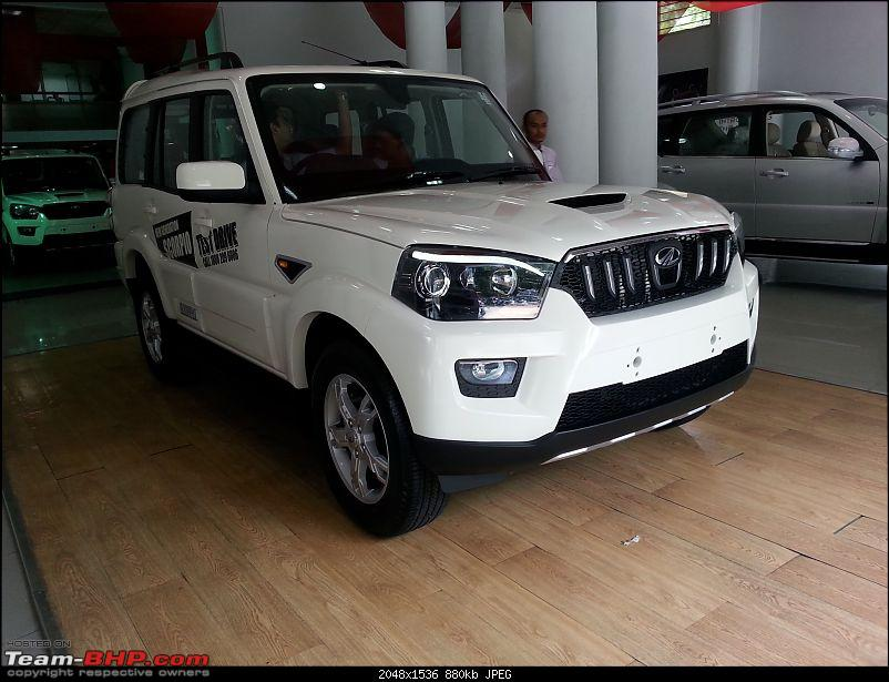 2014 Mahindra Scorpio Facelift (W105). EDIT: Now launched at Rs. 7.98 lakhs-20140926_104246.jpg
