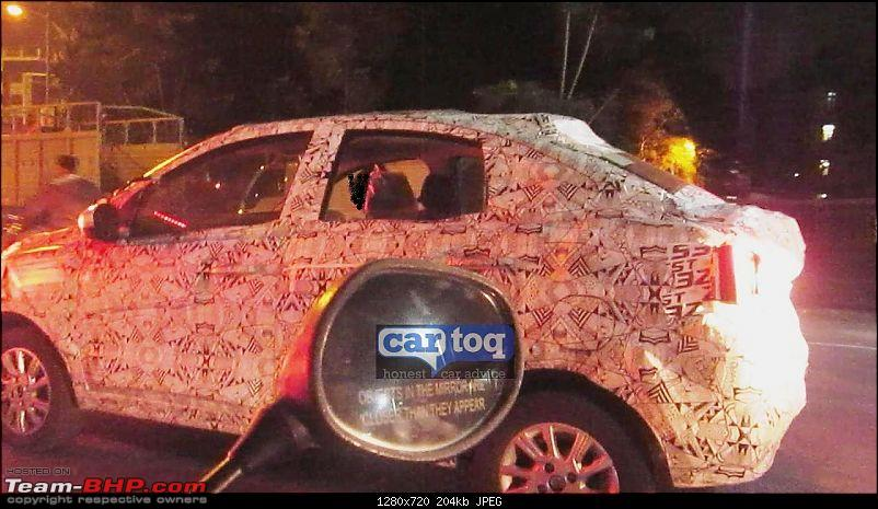 Tata Tiago-based compact sedan. EDIT: Tigor launched at Rs 4.7 lakhs-tatakitecompactsedanrearquarterspied.jpg