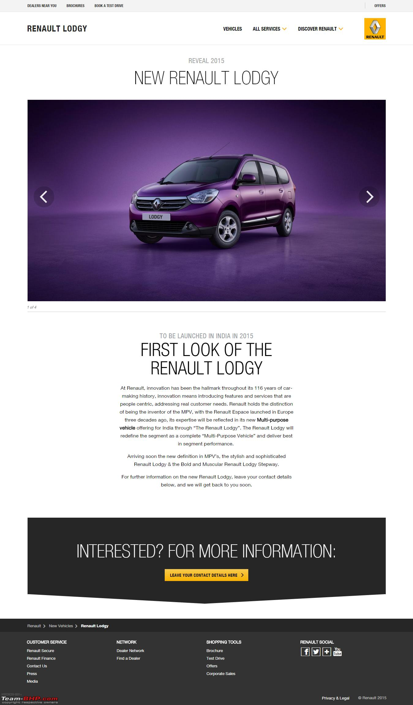 the renault lodgy page 6 team bhp. Black Bedroom Furniture Sets. Home Design Ideas