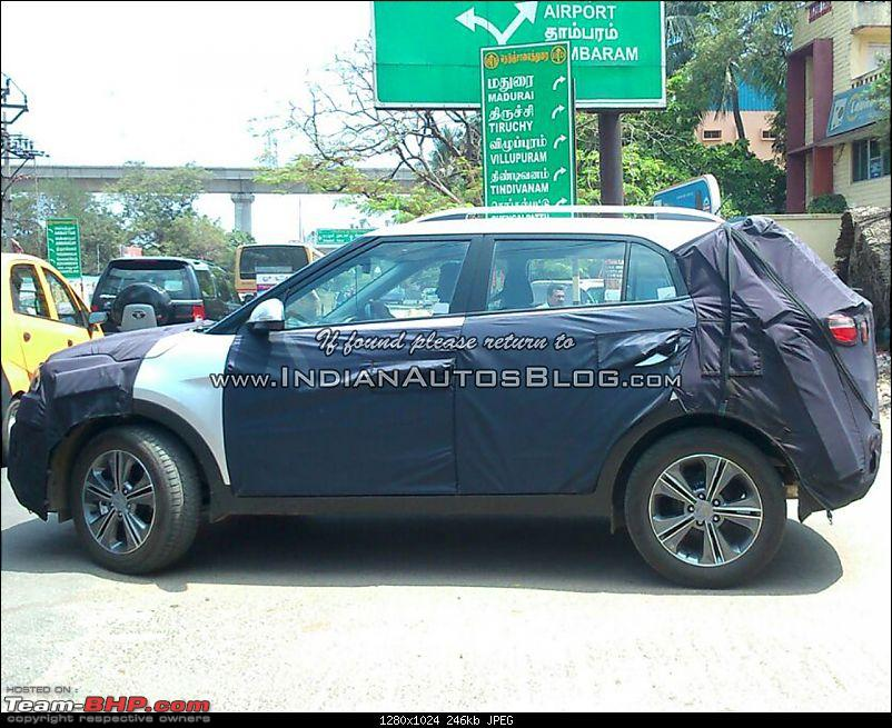 Hyundai ix25 Compact SUV caught testing in India. EDIT: Named the Creta-hyundaiix25sidespottedtestinginchennaibyiabreader.jpg