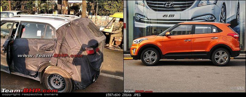 Hyundai ix25 Compact SUV caught testing in India. EDIT: Named the Creta-comparison.jpg