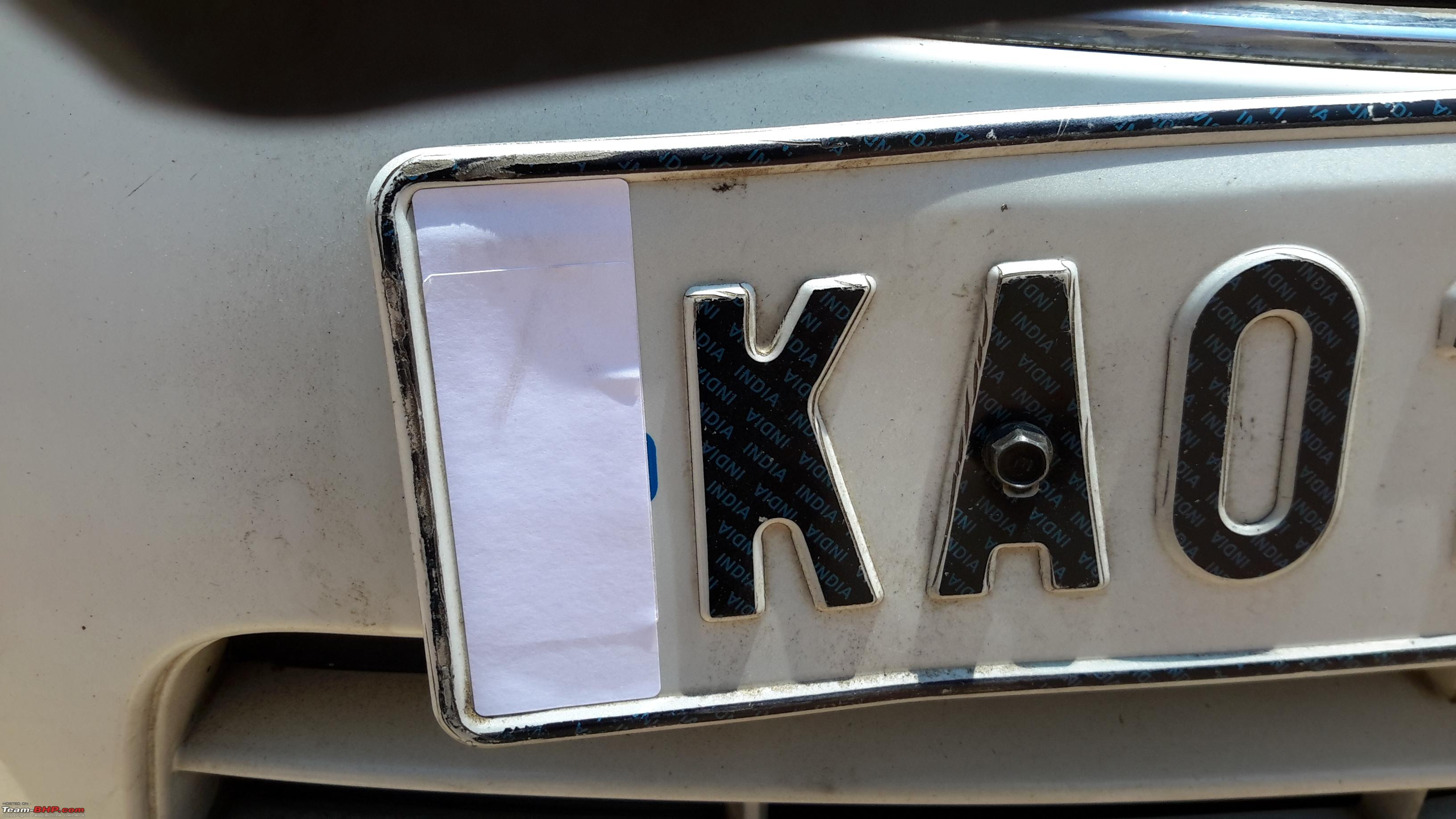 High security registration plates hsrp in india 20150322_122029 jpg