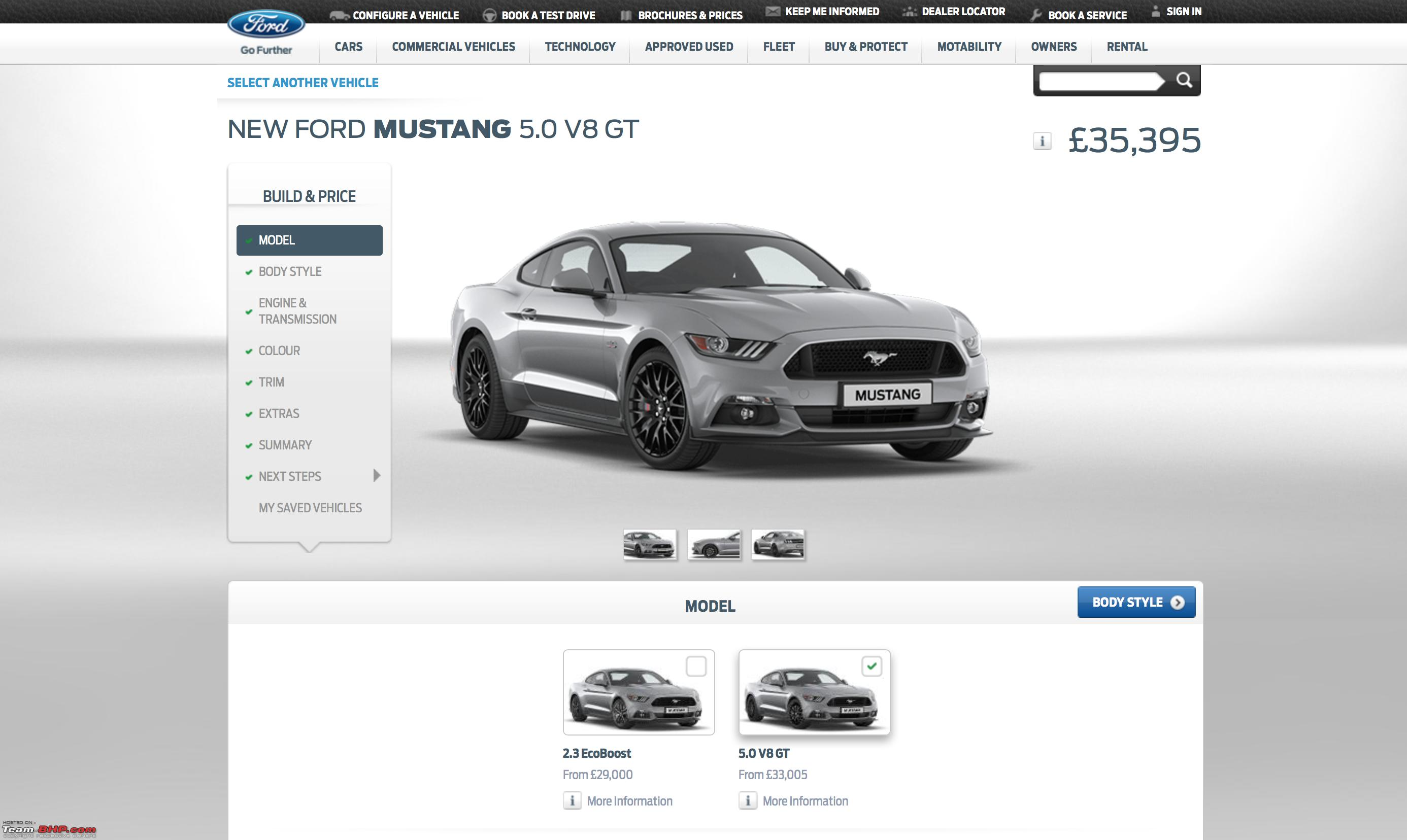 Ford Mustang Coming To India Edit Launched At  Lakhs Screen Shot