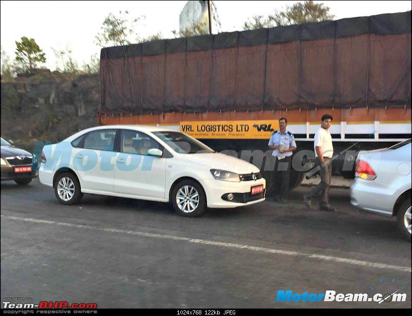VW Vento facelift spied sans camouflage in India-1.jpg