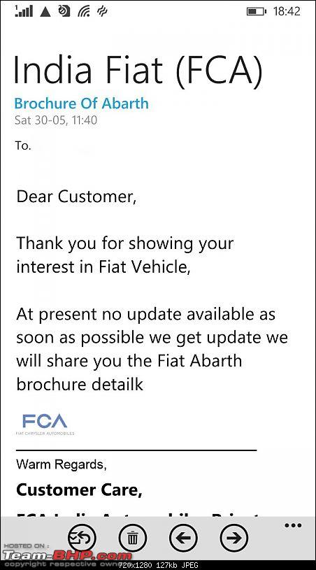 Fiat Abarth 595 Competizione revealed on Fiat India's website-fiatabarthreply.jpg