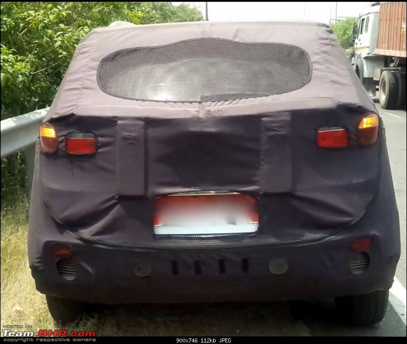 Hyundai ix25 Compact SUV caught testing in India. EDIT: Named the Creta-hyundaicretarearspied900x746.jpg