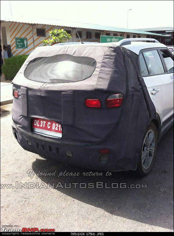 Hyundai ix25 Compact SUV caught testing in India. EDIT: Named the Creta-hyundaicretarearspiednoida765x1024.jpg