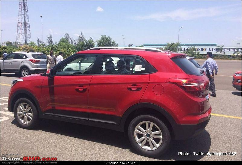 Hyundai ix25 Compact SUV caught testing in India. EDIT: Named the Creta-hyundaicretaspiedrearthreequarter.jpg