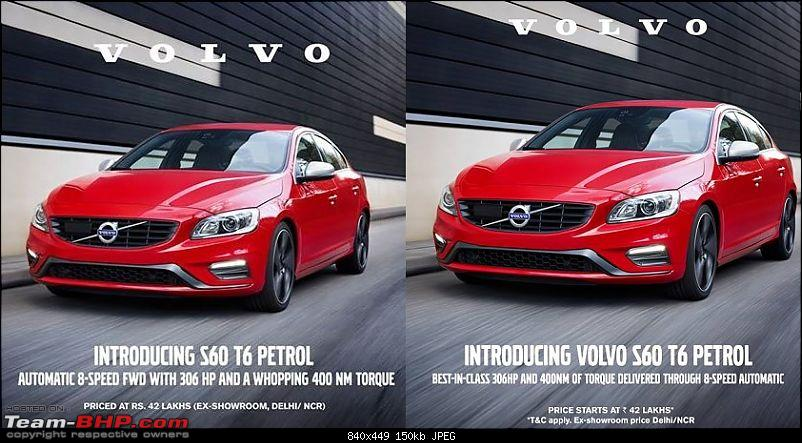 Volvo to launch 300 BHP S60 T6 petrol in July 2015 EDIT: Now launched at Rs. 42 lakhs-11201877_10155978711880556_6830356433528769876_n.jpg