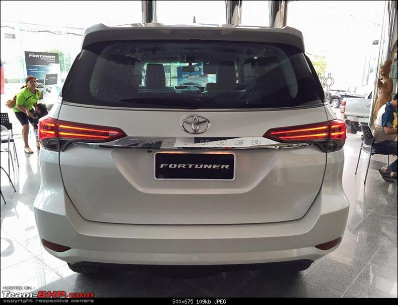 New Toyota Fortuner caught on test in Thailand-2016toyotafortunerrearontheshowroomfloorpostunveil900x675.jpg