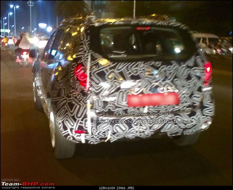 Renault Duster facelift spotted testing in India-2016renaultdusterrearquarterspottedtesting.jpg
