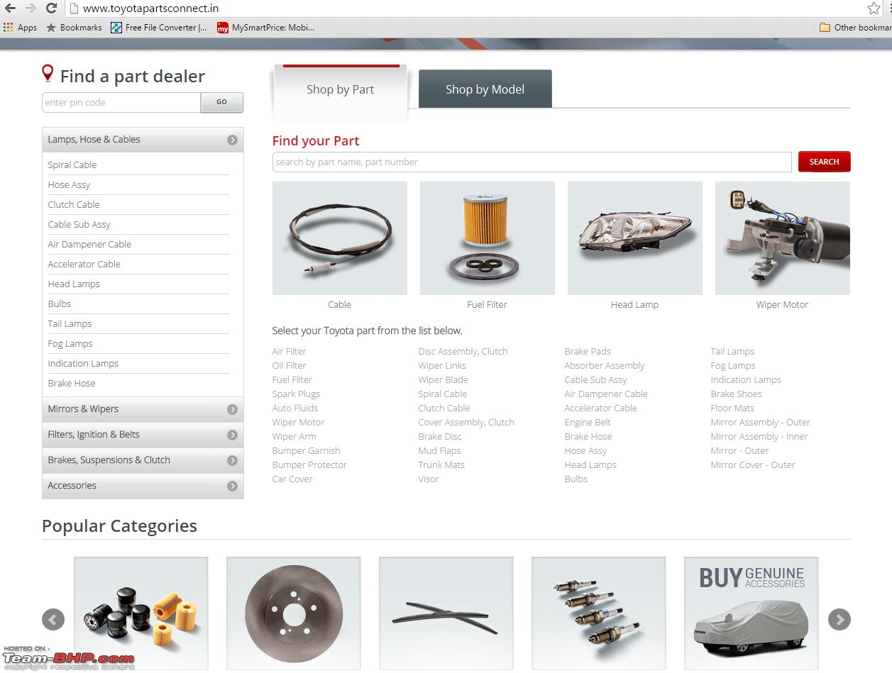 Toyota Plans Online Sale Of Spare Parts In India Edit Now
