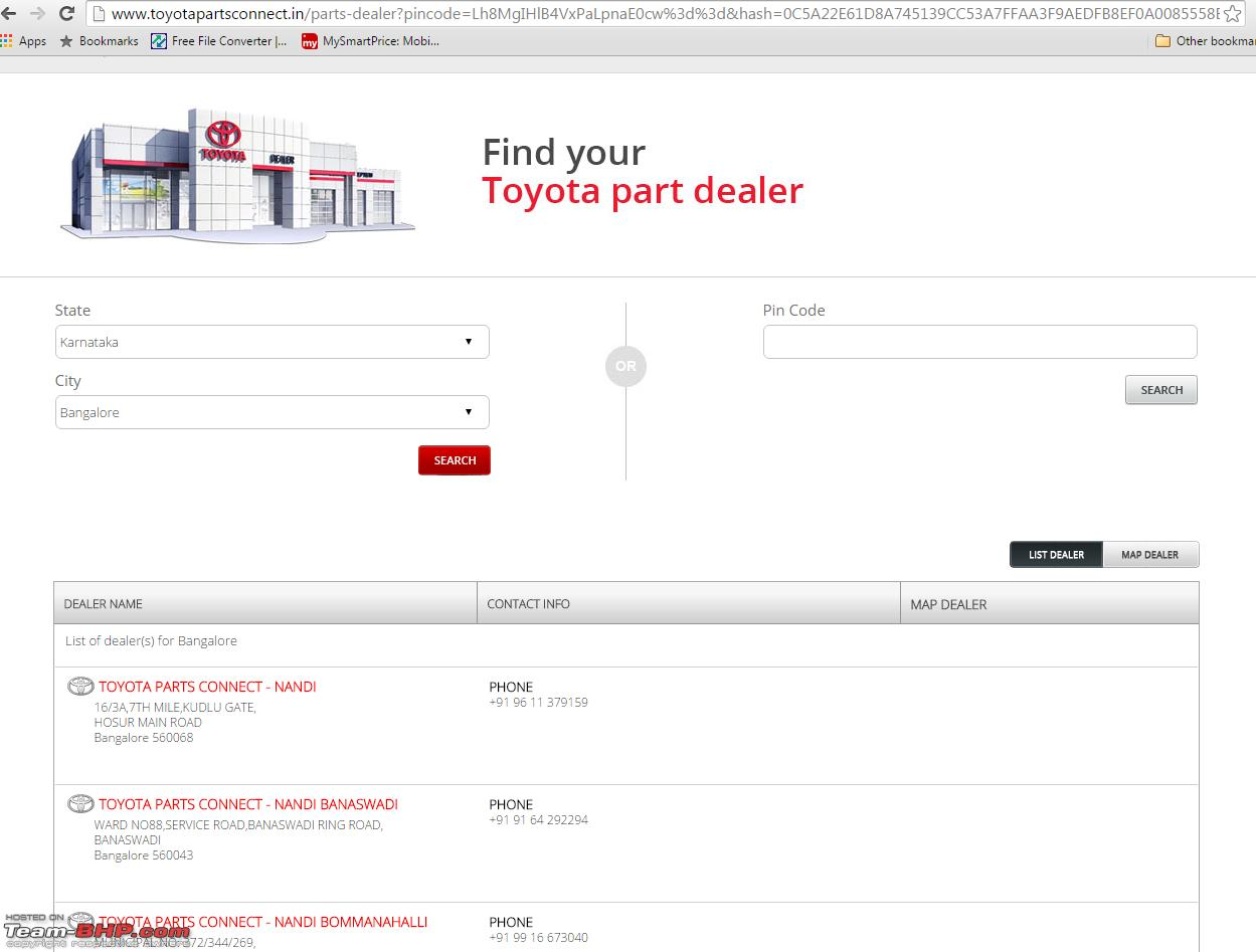 Toyota plans online sale of spare parts in India  EDIT: Now