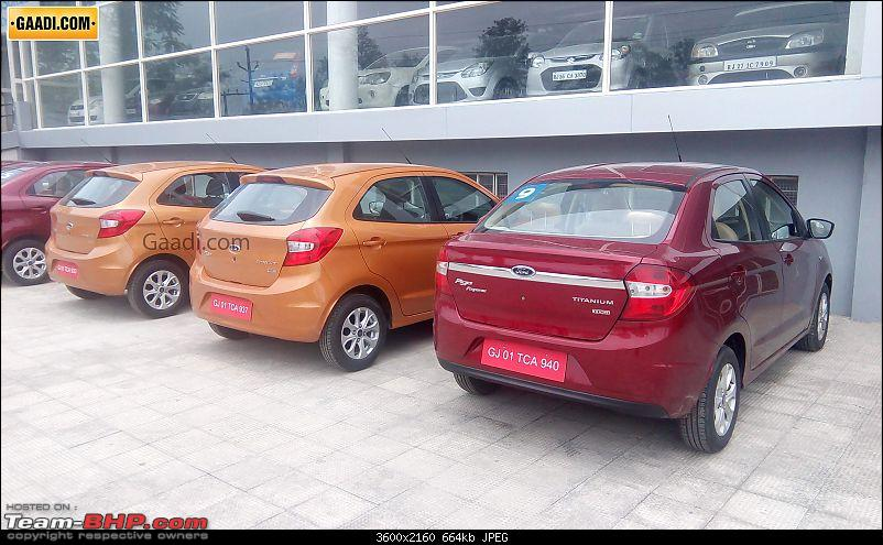 The next-gen 2015 Ford Figo. EDIT: Now launched-fordfigohatchbackrearrightquarteratdealership.jpg