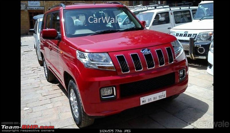 Next-generation Mahindra Bolero? NAMED: Mahindra TUV300!  EDIT: Now launched at Rs. 6.90 lakhs-mahindratuv300front.jpg