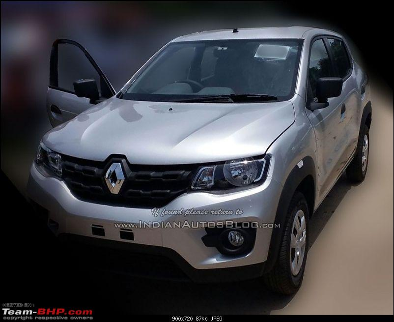 Renault's Kwid entry level hatchback unveiled EDIT: Now launched at Rs. 2.57 lakhs!-renaultkwidfrontdealerspied900x720.jpg