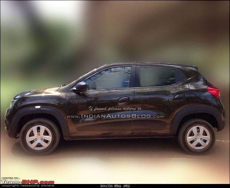 Renault's Kwid entry level hatchback unveiled EDIT: Now launched at Rs. 2.57 lakhs!-renaultkwidsidedealerspied900x720.jpg