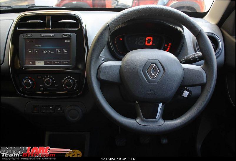 Renault's Kwid entry level hatchback unveiled EDIT: Now launched at Rs. 2.57 lakhs!-renaultkwidreview29dashboard.jpg