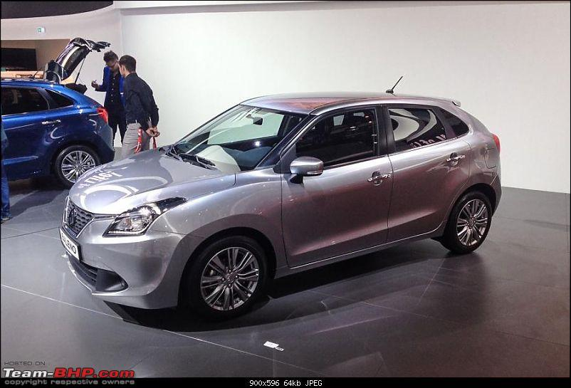 Next-gen Suzuki Baleno (YRA) unveiled. EDIT: Now launched at Rs. 4.99 lakhs-iaa20150083-1.jpg